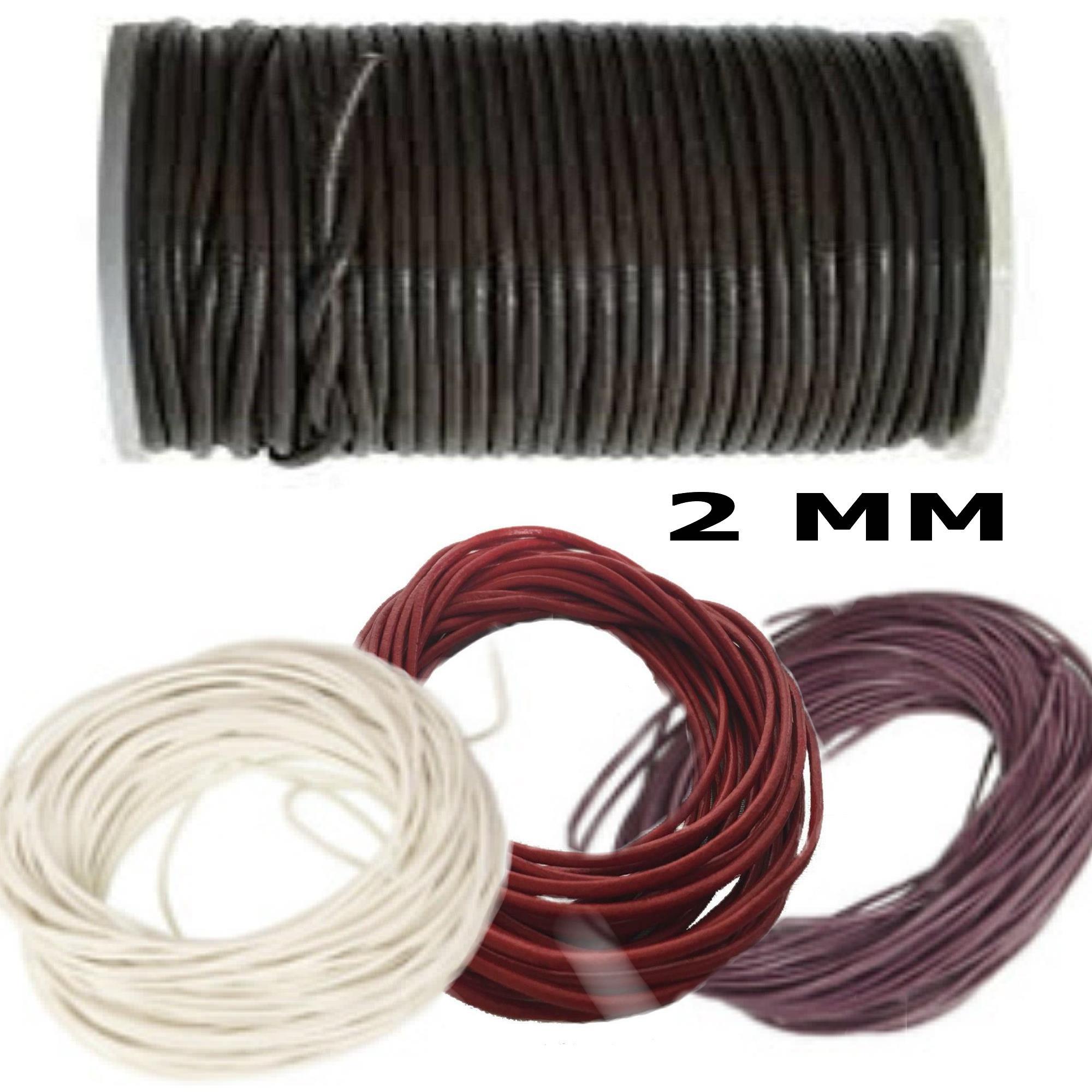 5 10 mt Filo Cotone Cordino Elastico 2mm Colore Nero Rosso Azzurro Bigiotteria