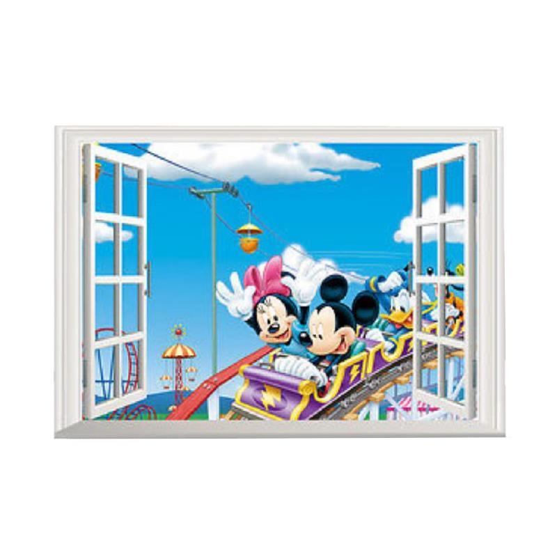 Adesivi Murali Minnie E Topolino.Dettagli Su Wall Stickers 3d Topolino Minnie Per Bambini Adesivi Murali Parete Muro Camera